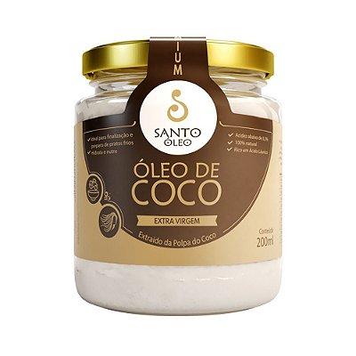 Óleo de Coco Extravirgem da Polpa 200ml - Santo Óleo
