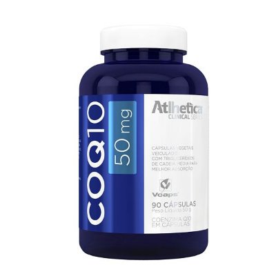 COQ10 (Coenzima) 50 mg - 90 Cápsulas - Atlhetica