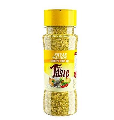 Tempero Zero Sódio Ervas e Alho - 55g - Mrs Taste