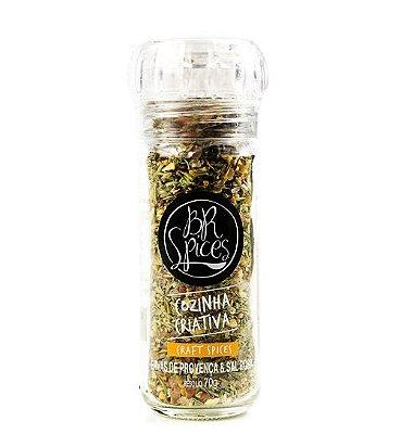 Moedor Ervas de Provença & Sal Rosa - 70g - Br Spices