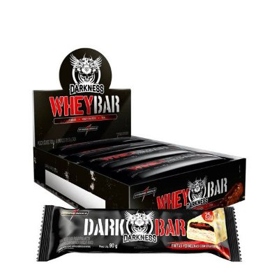 Whey Bar Darkness (Cx com 8 unidades de 90g) Integralmedica