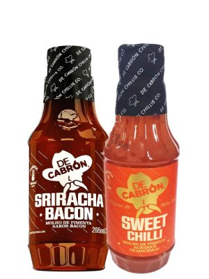 Kit 1 Sriracha + 1 Sweet Chilli - 266ml - De Cabrón