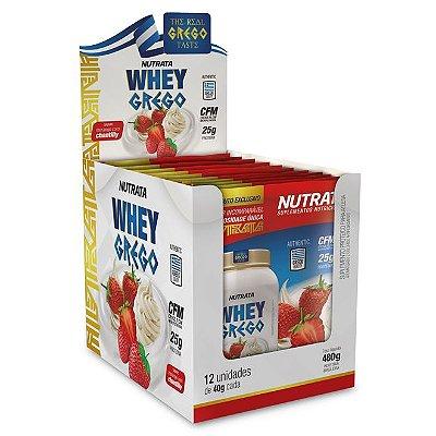 Whey Grego Sachê - 40g (Caixa com 12 Sachês) - Nutrata