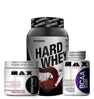Hard Whey + Bcaa 2400 60 Caps + Creatine 150g