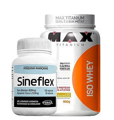 Iso Whey 900g Max Titanium + Sineflex Power Supplements