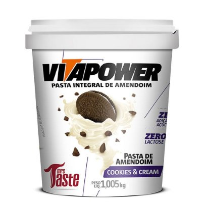 Pasta de Amendoim Cookies'n Cream 1,005Kg Vitapower