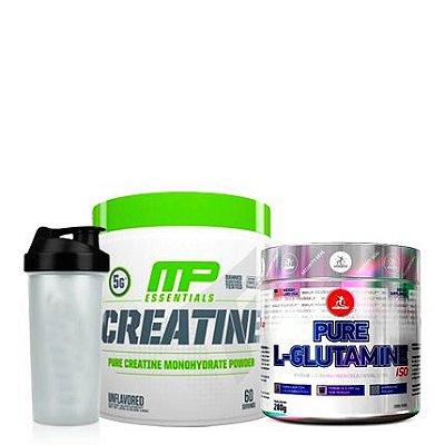 Creatine 300g Muscle Pharm + Glutamine 280g Midway