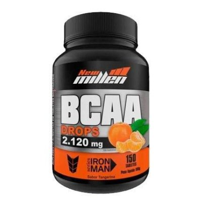 Bcaa Drops Mastigavel 2.120mg 150 Tablets New Millen