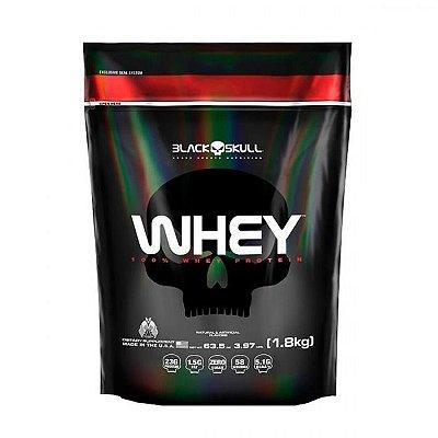 Whey 100%  1,8Kg (Refil)  Black Skull