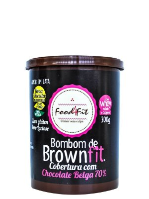 Bombom de Brown Fit Cobertura de Chocolate Belga 300g Food4Fit