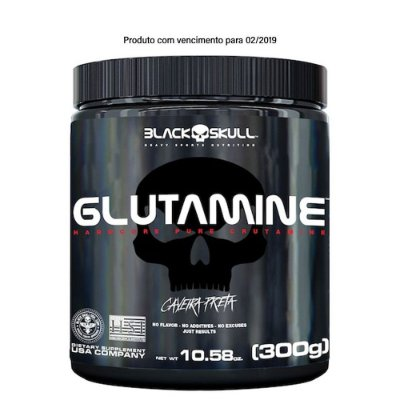 Glutamine 300g Black Skull