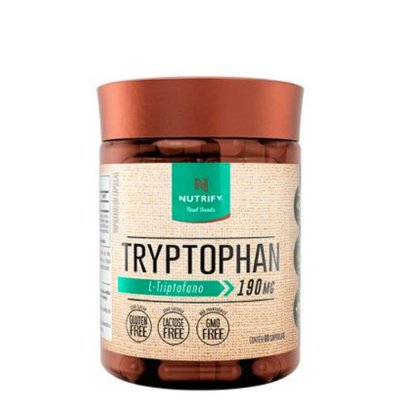 Tryptophan 60 caps Nutrify - Para stress, memoria e sono