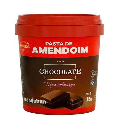 Pasta de Amendoim Chocolate Meio Amargo 1,002Kg Mandubim