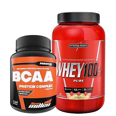 Whey Protein 100% 900g Integralmedica + Bcaa 240 Tablets New millen