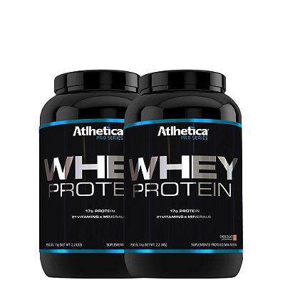 Kit 2 Whey Protein Pro Series 1Kg Atlhetica Nutrition
