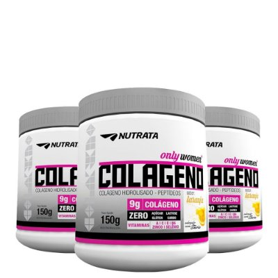Kit 3 Unid Colageno Only Women 150g Nutrata