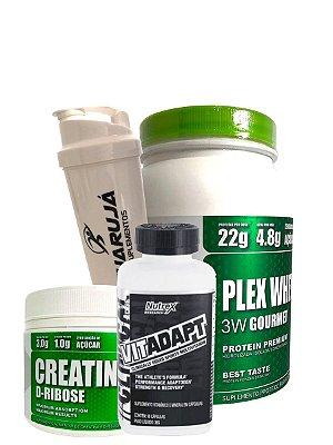 Plex Whey + Creatine D-Ribose + Multivitamínico + Coqueteleira