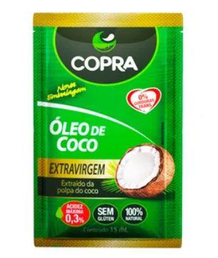 Óleo de coco Sachê Culinário 15ml Copra