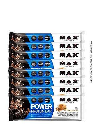 Barra de Proteína Power Protein Bar 90g (Caixa c/8uni) - Max Titanium