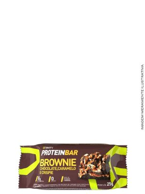 Mini Barrinhas de Proteínas 100g - Protein Bar Brownie Chocolate,Caramelo  e Crisp - Trinity