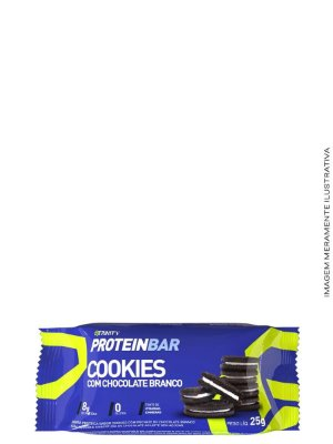 Mini Barrinhas de Proteínas 100g - Protein Bar Cookies com Chocolate Branco - Trinity