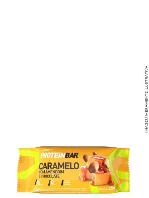 Mini Barrinhas de Proteínas 100g - Protein Bar Chocolate,Caramelo e Amendoim - Trinity