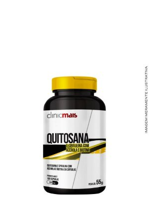 Quitosana 100 caps 550 mg - Clinicmais
