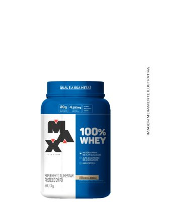 Whey 100% Concentrado Pote 900g - Max Titanium