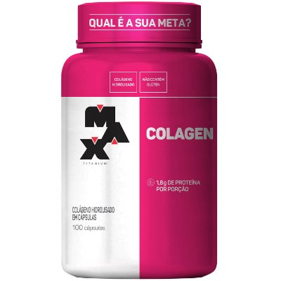 Colágeno Hidrolisado 100 Cáps  - Max Titanium