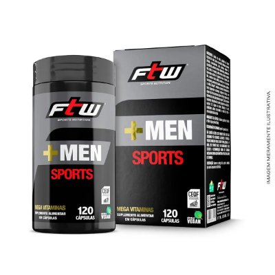 Multivitamínico +Men Sports 120 caps - FTW