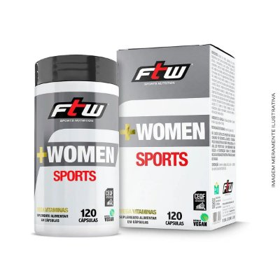 Multivitamínico +Women Sports 120 Cáps - Ftw