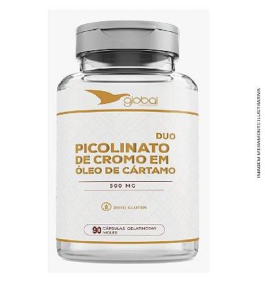 Picolinato de Cromo + Óleo de Cártamo 90 caps ( 2 em 1) - Global Suplementos