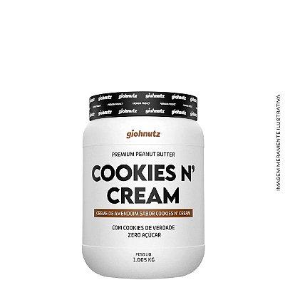 Creme de Amendoim Cookies N' Cream- 1kg Giohnutz