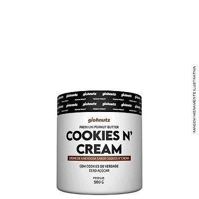 Creme de Amendoim Cookies N' Cream 500g - Giohnutz