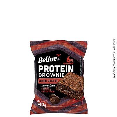 Brownie Protein Double Chocolate Sem Açúcar 40g - Belive