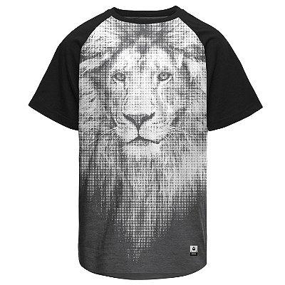 Camiseta Masculina Raglan Gola O - Leão de Juda