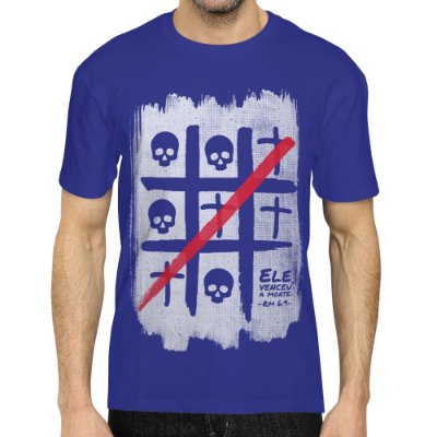 Camiseta Masculina Básica Gola O - Ele Venceu a Morte