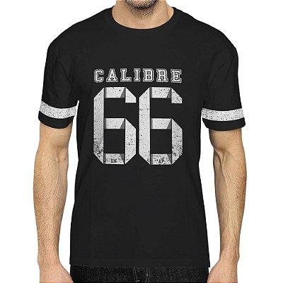 Camiseta Masculina Básica Gola O - Calibre 66 - Preto