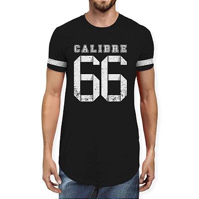 Camiseta Masculina Longline Gola O - Calibre 66