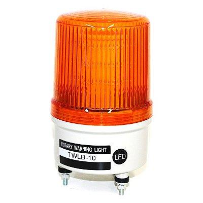 Sinalizador EMERGÊNCIA Rotativo LED+BUZZER - 220VCA - LARANJA TWLB-10L2O METALTEX