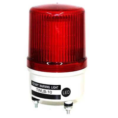 Sinalizador EMERGÊNCIA Rotativo LED+BUZZER - 24V VERMELHO TWLB-10L7R METALTEX