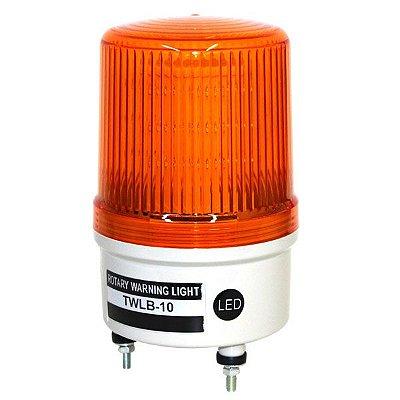 Sinalizador EMERGÊNCIA Rotativo LED+BUZZER - 12V LARANJA TWLB-10L9O METALTEX