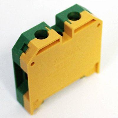 CONECTOR TERRA 35MM COM CAPA P/ TRILHOS TS35 E TS35 - VERDE/AMARELO MGB35/35