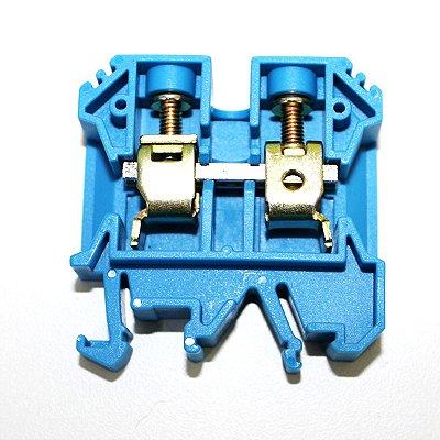 CONECTOR DE PASSAGEM 16MM P/ TRILHOS TS32 E TS35 - AZUL MTB16EN-AZ