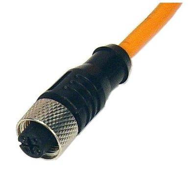 CABO C/ CONECTOR M12 RETO - 4 PINOS- 5 M K12-R-5M