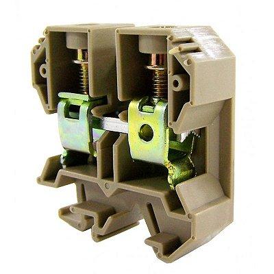 CONECTOR DE PASSAGEM 35MM P/ TRILHOS TS32 E TS35 - BEGE MTB35EN