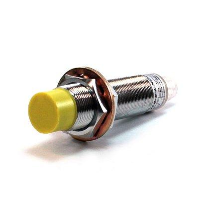 SENSOR INDUTIVO NÃO FACEADO M18 - SN: 8MM - NPN C/ CONECTOR M12 - 1NA + 1NF I18-8-DNC-K12