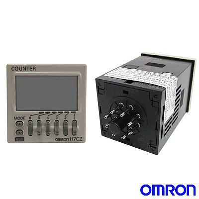 contador digital/ multi função/ 6 dígitos/ saída a rele/ 1NAF/ 100-240 VCA/ 8 pinos  H7CZ-L8