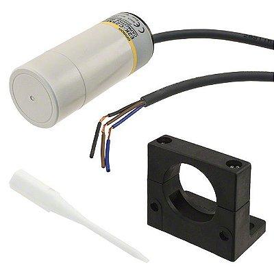 sensor capacitivo, DC 3 fios, 34mm, NA, PNP, distância de detecção: 3 a 25mm, com cabo 2m, ambiente de operação -25º a 7  E2K-C25MF1
