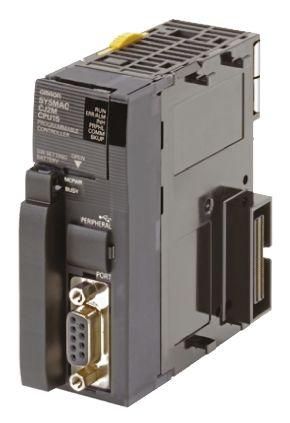 cpu do clp serie cj2 com capacidade de 10ksteps de programação, ate 2560 pontos de i/o, 1 porta rs232 +1 porta USB  CJ2M-CPU12